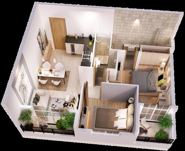 Thiết kế căn hộ Mone