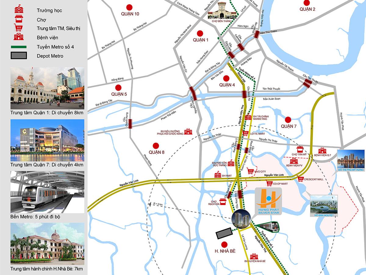 Vị trí căn hộ hưng phát Nguyễn hữu Thọ