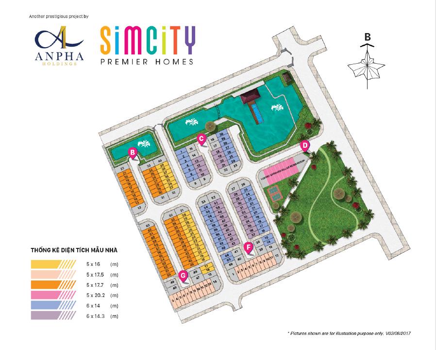 Mặt bằng tổng thể dự án Simcity
