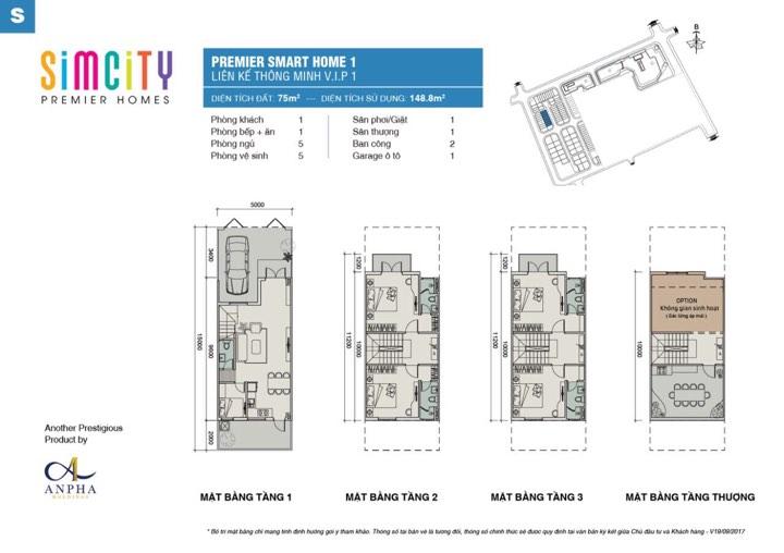 Thiết kế simcity nhà phố 75m2