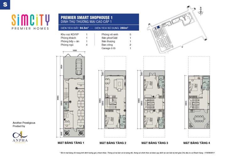 Thiết kế shophouse simcity loại 94m2.