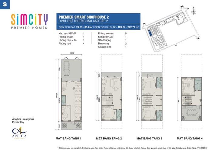 Thiết kế shophouse simcity loại 75 -87m2