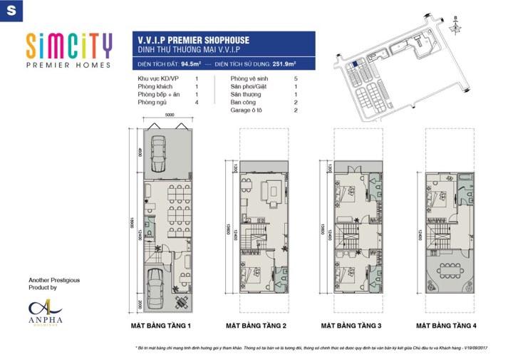 Thiết kế shophouse simcity loại A53-A55