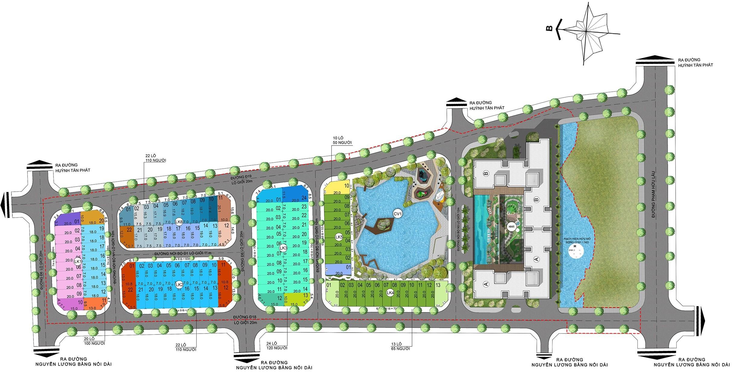 Mặt bằng thiết kế căn hộ Hưng Phát green star