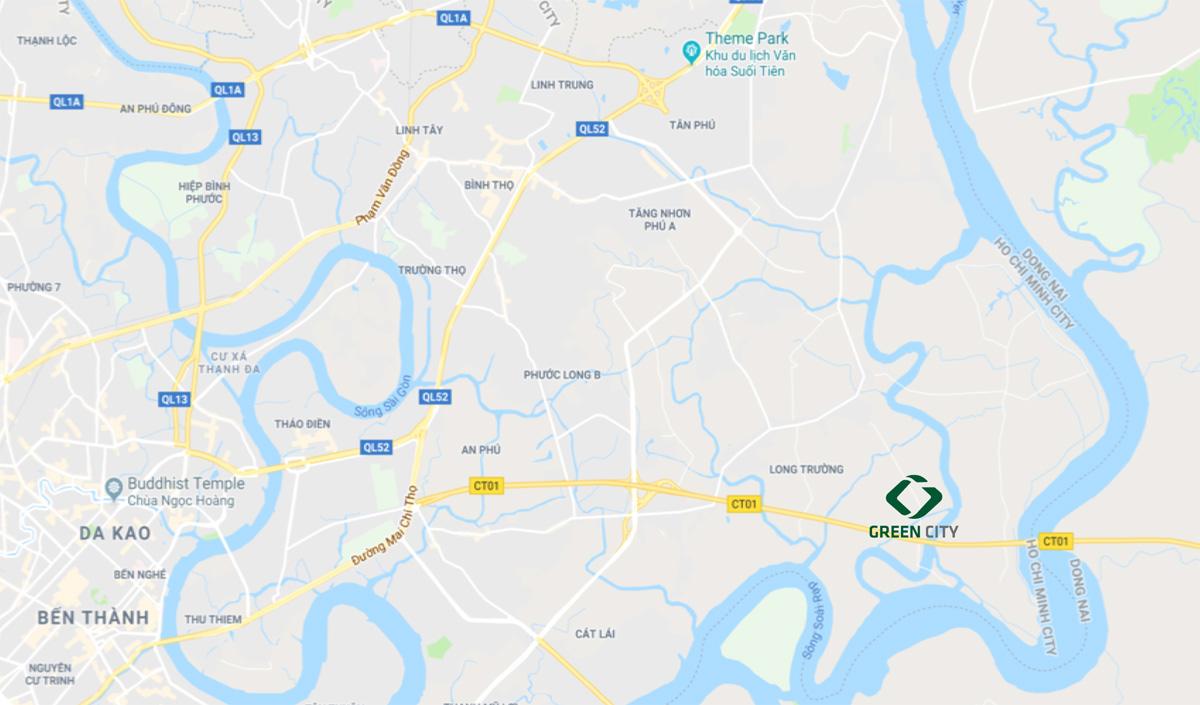 Vị trí green city quận 9