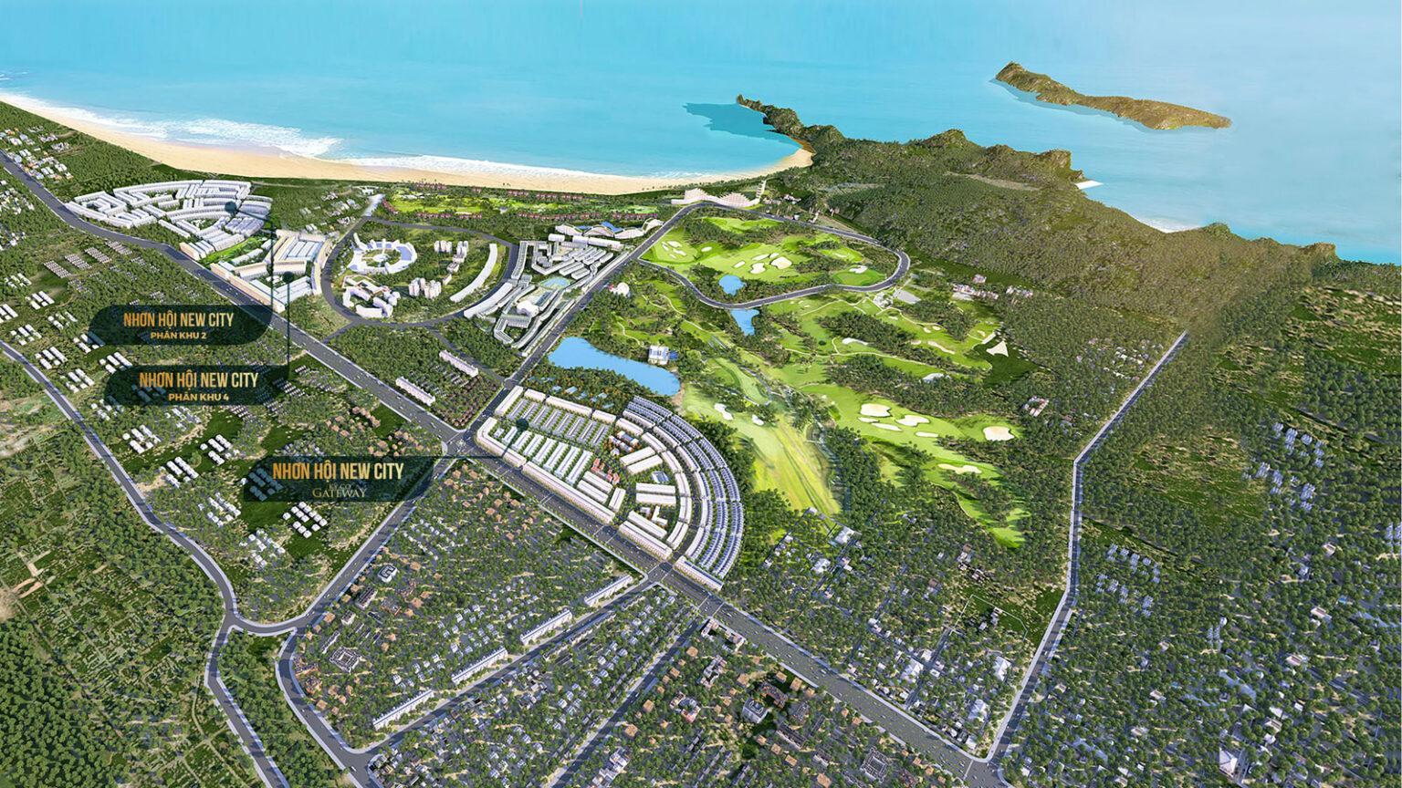 Phối cảnh Tổng quan dự án đất nền Nhơn Hội New City